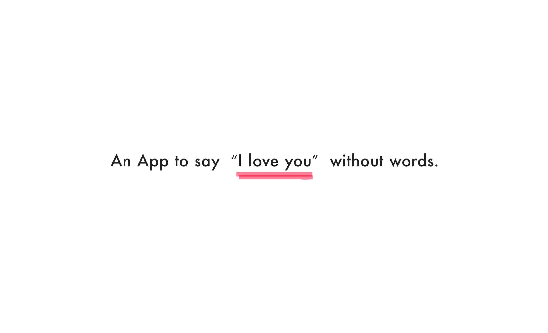 An App to say